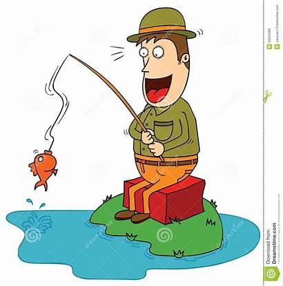 Fisherman Clipart Fisher Lucky Illustration Vector Cartoon