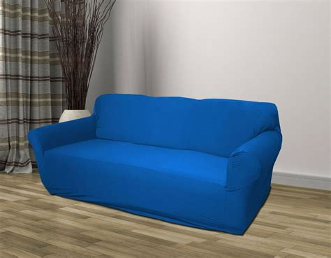 Blue Slipcovers For Sofas by Blue Jersey Sofa Stretch Slipcover Cover Furniture