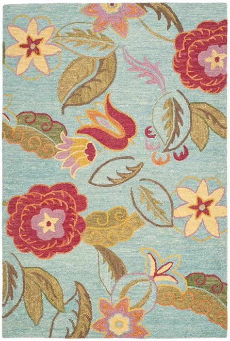 floral area rugs safavieh blossom blm675a blue and multi area rug free