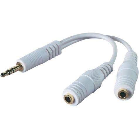audio phono y adapter 1x 3 5 mm 2x socket 3 5 mm from conrad