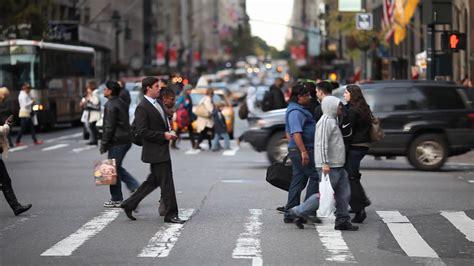 Crowd Crossing Street New York City Ny Nyc Pedestrian People Stock Video Footage  Storyblocks Video