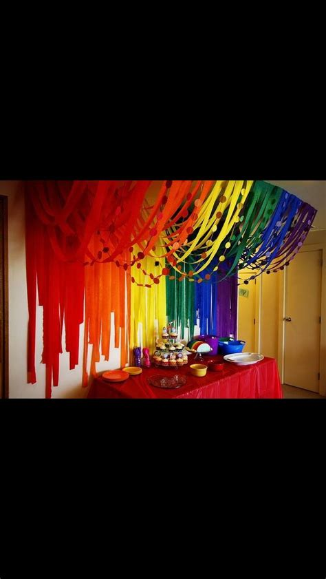 Decorating Ideas With Streamers by Looks Great Different Colours Maybe Stage Ideas