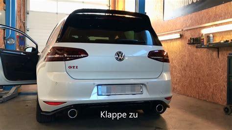 golf 7 gti klappenauspuff underground exhaust vw golf 7 gti clubsport stage 3 sound klappenauspuff sound