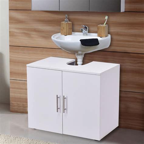 costway costway  pedestal  sink bathroom storage