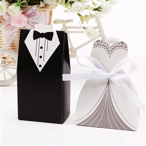 wedding favor box 100 pcs and groom wedding favor box gift paper boxes creative sugar jpg