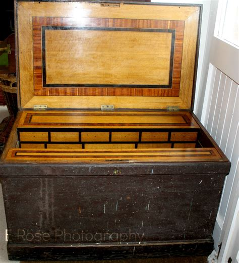 large early victorian cabinet makers tool chest