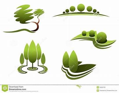 Landscape Elements Landscaping Clipart Background Trees Plants