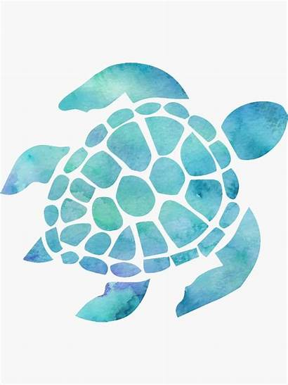 Turtle Sea Watercolor Sticker Clipart Water Painting