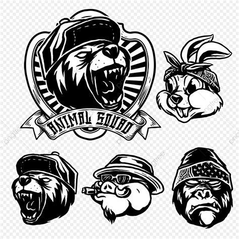 set  animal gangster style logo snapback head