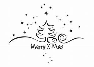 Tannenbaum Schwarz Weiß : wandtattoo weihnachten tannenbaum mit sternen ~ Orissabook.com Haus und Dekorationen