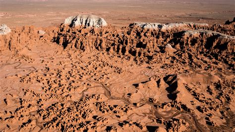 goblin valley aerial drone  ambient flight