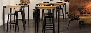 Table Bar Bois : table bar pour votre cuisine avec rangement miliboo ~ Teatrodelosmanantiales.com Idées de Décoration