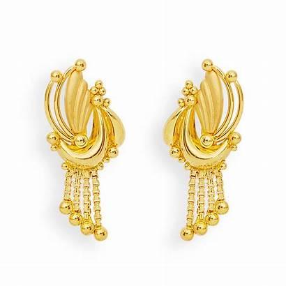 Earrings Gold Jewellery Feather Designs Balls Grt