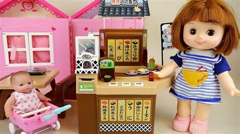 Baby Doll Conveyor Belt Food Shop And Surprise Eggs Toys
