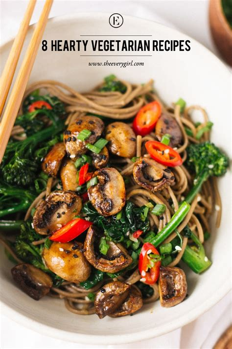 hearty meals 8 hearty vegetarian recipes for meatless monday the everygirl