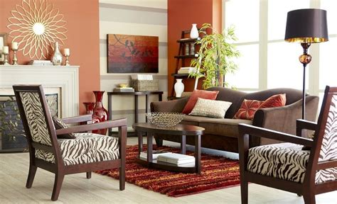 Pier 1 Living Room With The Abbie Sofa In Chocolate And