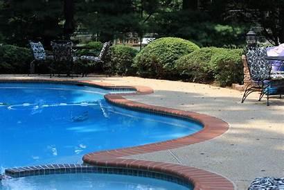 Brick Coping Pool Tile Concrete Exposed Plaster