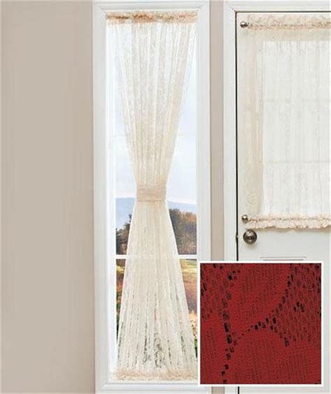 sidelight curtain sash rods lace door window sidelight curtain panel w rod