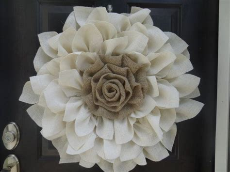 Burlap Flower Wreath Flower Wreath Front Door Wreath