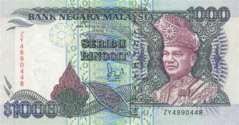 uang kuno malaysia ringit malaysian banknotes the rm500 and rm1000 note