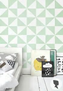couleur tapisserie chambre le papier peint géométrique en 50 photos avec idéеs