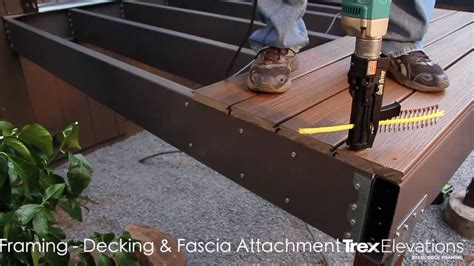 how to install trex elevations steel deck framing attaching decking fascia