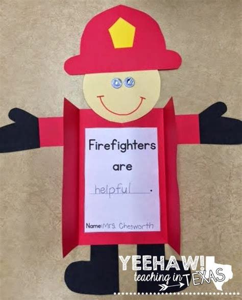 firefighter craft and differentiated writing activities 442 | 580db758f2ae2da0708b89dbf6f46a17 activities for preschoolers group activities