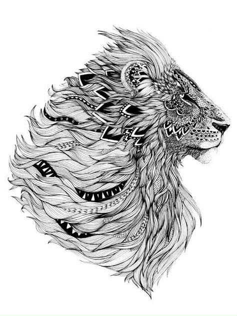 Kleurplaat Sierlijk by Leeuw Tatuajes Leones Tatuajes De