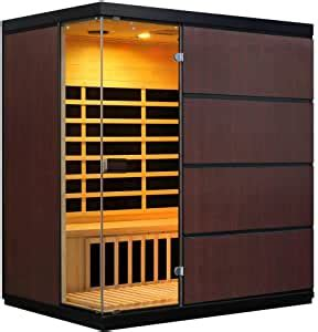 Amazon.com : 4 Person Sauna FAR Infrared Hemlock Wood 8