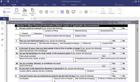 irs form 443a irs form 433 a how to fill it right wondershare pdfelement