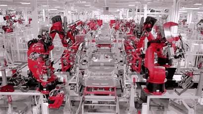 Factory Robots Tesla Industrial Robot Future Factories