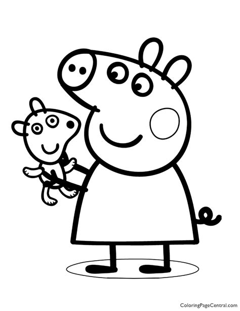 Peppa Pig Coloring Page 02 Coloring Page Central