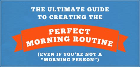 How To Create A 'successbased' Morning Routine