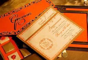 Elegant orange voguish wedding invitations for Wedding invitation cards ludhiana