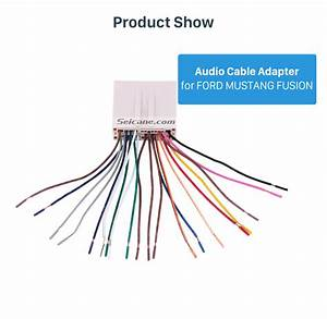 Auto Car Stereo Wiring Harness Plug Adapter Audio Cable For Ford Mustang Fusion
