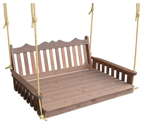 cedar 5 royal swingbed with chains craftsman