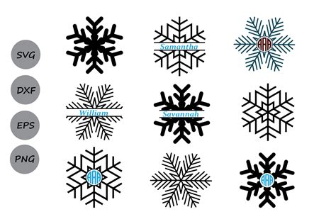 So i cut my snowflakes out of red glitter paper. Snowflake SVG Cut File, Snowflake Monogram Svg, Snowflakes ...