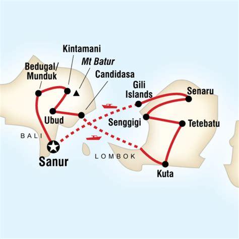 map   route  travel bali lombok bali lombok