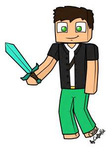 Minecraft Characters Cartoon Drawings