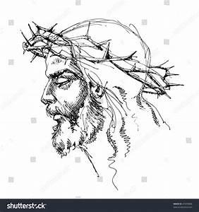 Jesus Christ Crown Thorns Sketch Stock Illustration ...