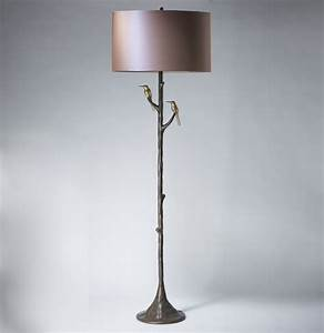 tall 39hummingbird39 floor lamp in brown bronze distressed With brown gold floor lamp