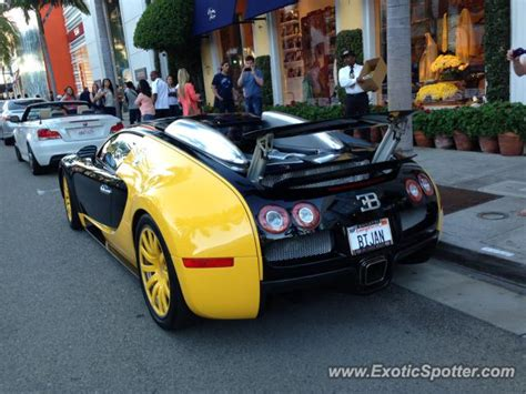 Bugatti Veyron Spotted In Rodeo Drive, California On 02/16