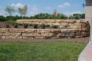 "Tiered 14"" Ledgerock Limestone Retaining Walls - Landscape ..."