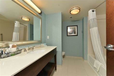 Guest Bathroom Decor Ideas With Flush Mount Ceiling Lights