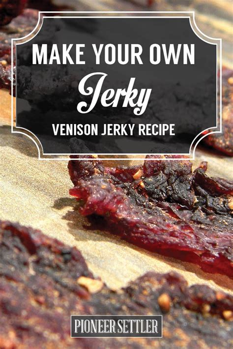 When this particular marinade is mingled with beef, the taste is just so fantastic! Venison Jerky Recipe