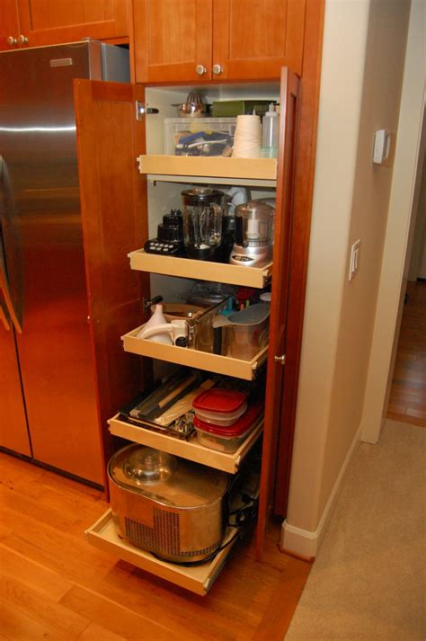 short kitchen pantry cabinet big vertical shaped slim pantry cabinet from light brown