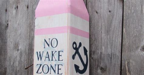 wake zone buoy girls nautical decor pink  navy