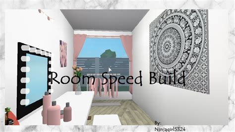 bloxburg bedroom speed build youtube