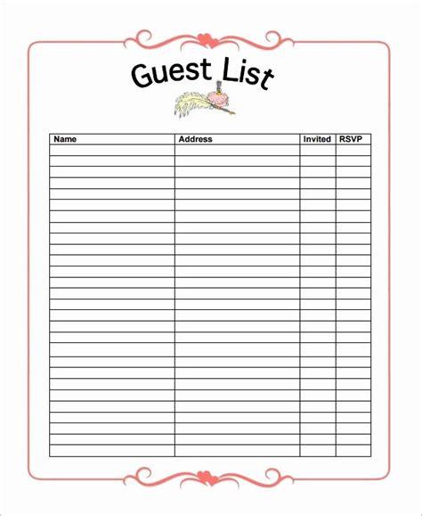 wedding guest list tracker inspirational  wedding guest