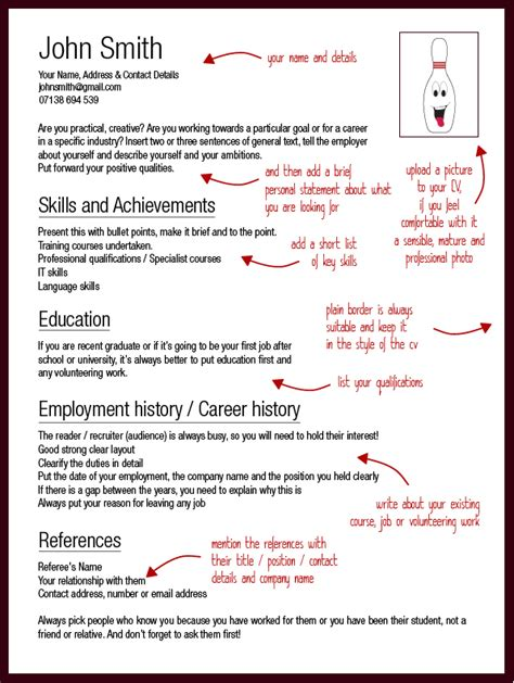 Best Cv Templates 2012 by Cv Advice Strike Page 2